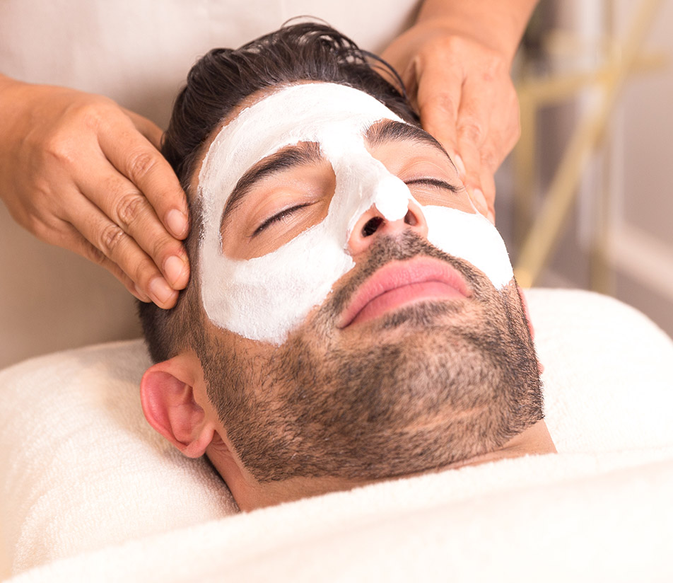 Relaxing men's facial